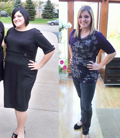 Me in 2010 just before I decided to start losing weight (left) and me after losing 50+ pounds 2 years later, in 2012.
