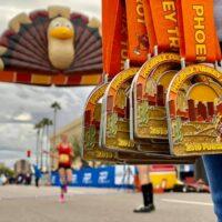 Phoenix Turkey Trot Medals at Finish Line