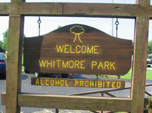 whitmore park sign